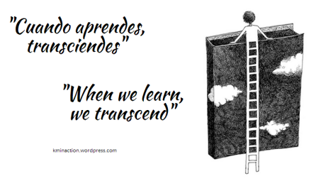 When we learn, we transcend