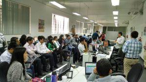 la cultura es imprescindible para movilizar a la organización; Foto: Compartiendo conocimiento en la comunidad ISO; Empresa GMD (Grupo Graña y Montero)