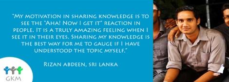Rizan Abdeen, Sri Lanka